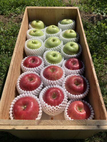 木箱入りんご