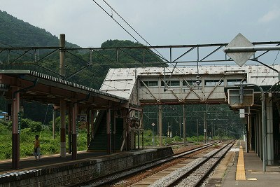JR碇ヶ関駅ホーム